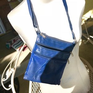 Handbags - Leather royal blue crossbody from Ensenada Mexico